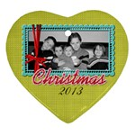 2011 Heart 2-sided Ornament 1 - Heart Ornament (Two Sides)