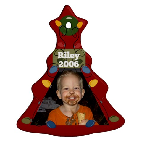 Riley 2006 By Nicole Thompson   Ornament (christmas Tree)    Mle9ig42hfg3   Www Artscow Com Front