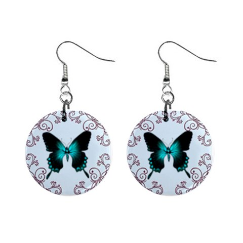 Butterfly Earrings By Kim Blair   1  Button Earrings   R5d25z25ell5   Www Artscow Com Front