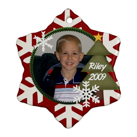 Riley 2009 By Nicole Thompson   Ornament (snowflake)   4e3ybjwdnd70   Www Artscow Com Front