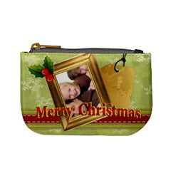 Merry Christmas By Joely   Mini Coin Purse   Rlep25afe1oc   Www Artscow Com Front
