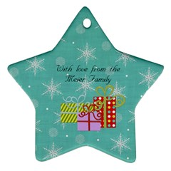 2011 Star Ornament 2 Sided 1 By Martha Meier   Star Ornament (two Sides)   3vdzmevq1nf9   Www Artscow Com Back