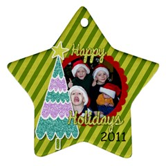 2011 Star Ornament 2 Sided 3 By Martha Meier   Star Ornament (two Sides)   Ar387ix0cvnq   Www Artscow Com Front