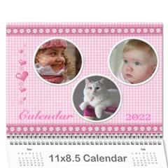 Happy Pink 2018 (any Year) Calendar By Deborah   Wall Calendar 11  X 8 5  (12 Months)   S1efi8lmxwlc   Www Artscow Com Cover