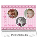 Happy Pink 2018 (any Year) Calendar - Wall Calendar 11  x 8.5  (12-Months)