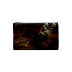 Steampunk Gears Collage Cosmetic Bag (Small) by DesignMonaco