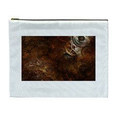 Steampunk Gears Collage Cosmetic Bag (XL) by DesignMonaco