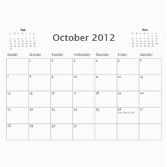 South African By Donny   Wall Calendar 11  X 8 5  (12 Months)   Ki5ro28ultrr   Www Artscow Com Oct 2012