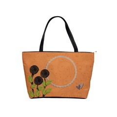Shoulder Handbag: 3flowers 2 By Jennyl   Classic Shoulder Handbag   25ale39zrh9r   Www Artscow Com Front