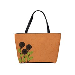 Shoulder Handbag: 3flowers 2 By Jennyl   Classic Shoulder Handbag   25ale39zrh9r   Www Artscow Com Back