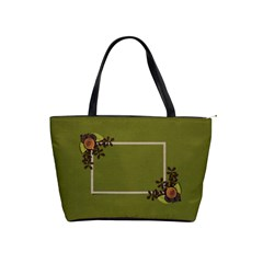 Shoulder Handbag: Green Memories By Jennyl   Classic Shoulder Handbag   4ma7y4yt2iw5   Www Artscow Com Front