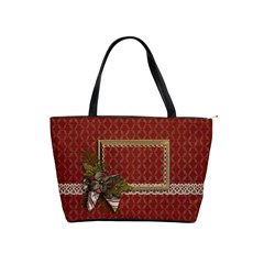 Shoulder Handbag: Christmas Bag By Jennyl   Classic Shoulder Handbag   Js0wnvgrbpaq   Www Artscow Com Front