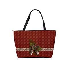 Shoulder Handbag: Christmas Bag By Jennyl   Classic Shoulder Handbag   Js0wnvgrbpaq   Www Artscow Com Back