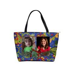 Christmas/paisley  Classic Shoulder Handbag By Mikki   Classic Shoulder Handbag   H2dictkbs0m1   Www Artscow Com Front
