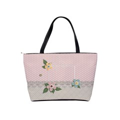 Shoulder Handbag: Flowers And Lace By Jennyl   Classic Shoulder Handbag   6tl0vtigvqb2   Www Artscow Com Back