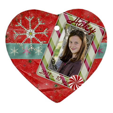 Haley By Kami   Ornament (heart)   Bqj8abtdnl2n   Www Artscow Com Front