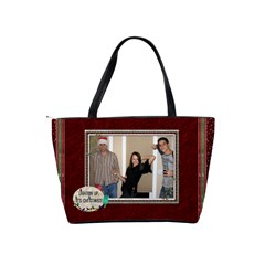 Meowy Christmas Classic Shoulder Handbag By Lil    Classic Shoulder Handbag   K4dc64lyk6f6   Www Artscow Com Back