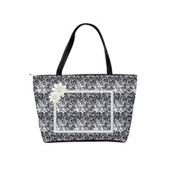 Black And White Shoulder Bag By Deborah   Classic Shoulder Handbag   Blri6ngjgu2f   Www Artscow Com Back