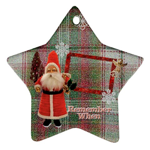 Santa Remember When 2011 Ornament 23 By Ellan   Ornament (star)   Xk5h4pvmu1n3   Www Artscow Com Front