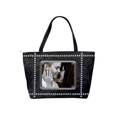 Black Diamond Classic Shoulder Handbag By Lil    Classic Shoulder Handbag   Mh56mtxbwqvg   Www Artscow Com Back