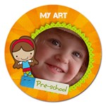 Preschool Girl -Magnet 5  - Magnet 5  (Round)