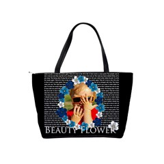 Beauty Flower By Joely   Classic Shoulder Handbag   D76xx18n6ox9   Www Artscow Com Back