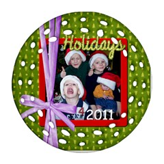2011 2 Sided Fancy Ornament By Martha Meier   Round Filigree Ornament (two Sides)   Vafq9jp5rvvo   Www Artscow Com Front