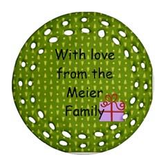 2011 2 Sided Fancy Ornament By Martha Meier   Round Filigree Ornament (two Sides)   Vafq9jp5rvvo   Www Artscow Com Back