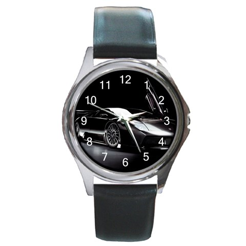 Watch By Jacob   Round Metal Watch   J5kaha9bgbbk   Www Artscow Com Front