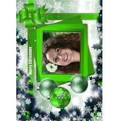 Christmas Greeting 5x7 Card (green) By Deborah   Greeting Card 5  X 7    J4z1j0yxut2b   Www Artscow Com Front Cover