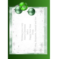 Christmas Greeting 5x7 Card (green) By Deborah   Greeting Card 5  X 7    J4z1j0yxut2b   Www Artscow Com Back Inside