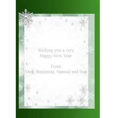 Happy New Year Greeting 5x7 Card (green) By Deborah   Greeting Card 5  X 7    Iqpmnplwrwm3   Www Artscow Com Back Inside
