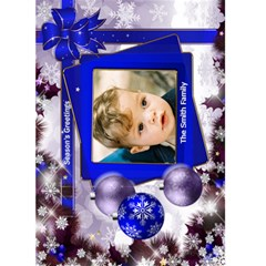 Christmas Greeting 5x7 Card (blue) By Deborah   Greeting Card 5  X 7    0tl0gz0f3smk   Www Artscow Com Front Cover