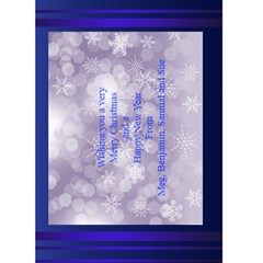 Christmas Greeting 5x7 Card (blue) By Deborah   Greeting Card 5  X 7    0tl0gz0f3smk   Www Artscow Com Back Inside