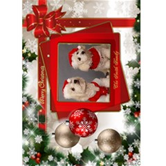 Christmas Greeting 5x7 Card (red) By Deborah   Greeting Card 5  X 7    Ha13mq50j3jg   Www Artscow Com Front Cover