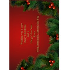 Christmas Greeting 5x7 Card (red) By Deborah   Greeting Card 5  X 7    Ha13mq50j3jg   Www Artscow Com Back Inside