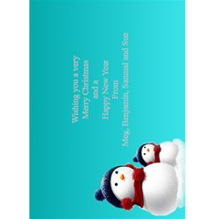 Christmas Greeting 5x7 Card (teal) By Deborah   Greeting Card 5  X 7    M5ipc1uffn9d   Www Artscow Com Back Inside