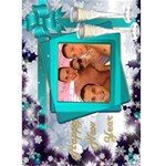 Happy New Year Greeting 5x7 Card (teal) - Greeting Card 5  x 7