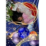 Christmas Seasons Greeting Card  5x7 (Blue) - Greeting Card 5  x 7