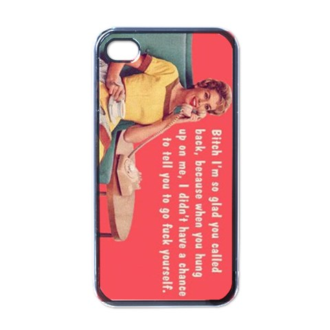 Hung Up By Anita Cooney   Apple Iphone 4 Case (black)   Dl68d4rn74a6   Www Artscow Com Front