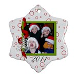 2011 2-sided Snowflake Ornament 1 - Snowflake Ornament (Two Sides)