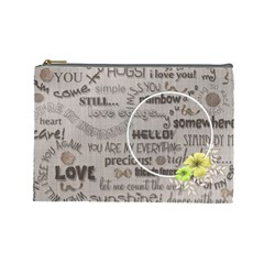 Love   Cosmetic Bag   Large By Angel   Cosmetic Bag (large)   Mtsznf1ovswr   Www Artscow Com Front