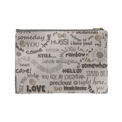 Love   Cosmetic Bag   Large By Angel   Cosmetic Bag (large)   Mtsznf1ovswr   Www Artscow Com Back