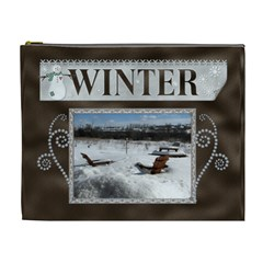 Winter Xl Cosmetic Bag By Lil    Cosmetic Bag (xl)   Xi7kxpk4gqfr   Www Artscow Com Front