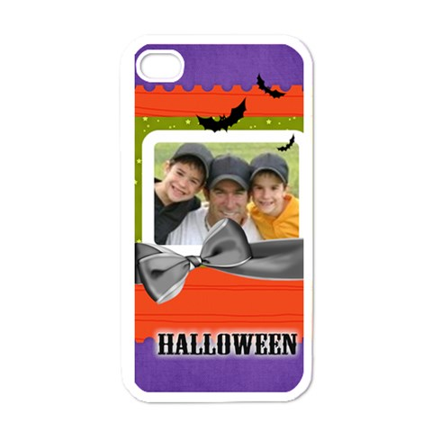 Halloween By Joely   Apple Iphone 4 Case (white)   Gftnofozwfhg   Www Artscow Com Front