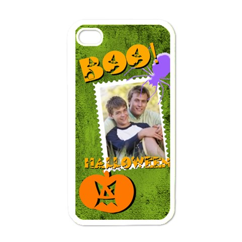 Halloween By Joely   Apple Iphone 4 Case (white)   P6av5ovsutik   Www Artscow Com Front