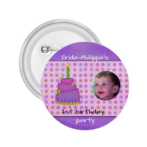 Irida Birthday Button By Marka20300   2 25  Button   Cgrpnof48rpf   Www Artscow Com Front