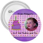 irida birthday button - 3  Button