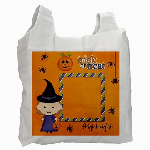 Recycle Bag (one Side): Halloween8 By Jennyl   Recycle Bag (one Side)   Dko8p1kfcsa6   Www Artscow Com Front