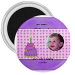 irida birthday magnet - 3  Magnet